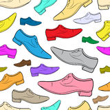 Seamless color male shoe Stock Photography