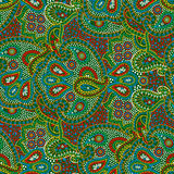 Seamless color paisley pattern Stock Image