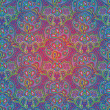 Seamless color paisley pattern Royalty Free Stock Photo