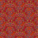 Seamless color paisley pattern. Vector seamless bright color boho paisley texture for cards, fabric and design vector illustration