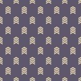 Seamless pattern with arrows motif stock illustration