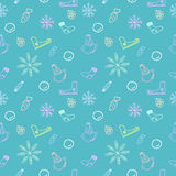 Seamless color pattern for Christmas and New Year Stock Photography