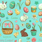 Seamless color pattern Easter holiday Stock Photo