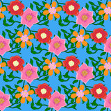 Seamless color pattern with flowers Royalty Free Stock Images