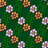 Seamless color pattern with flowers Stock Photos