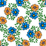 Seamless color pattern with flowers Royalty Free Stock Photo