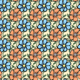 Seamless color pattern with flowers Stock Images