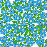 Seamless color pattern with flowers Royalty Free Stock Image