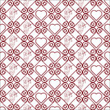 Seamless color pattern with hearts. Seamless geometric pattern with hearts. Vector repeating texture Royalty Free Stock Images