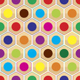 Seamless Color Ring Pattern Stock Images