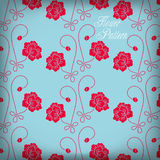 Seamless color rose pattern background Stock Photos