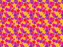 Seamless color stars pattern Royalty Free Stock Images