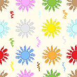 Seamless color sun. Seamless texture with the color sun with beams Royalty Free Stock Images