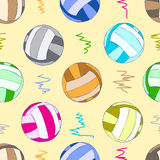 Seamless color volleyball balls Stock Images