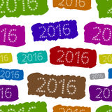 Seamless color years 2016 Stock Photos