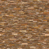 Seamless colored background wall of rectangular bricks. Stock Photography