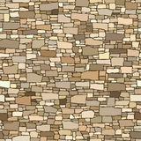 Seamless colored background wall from stones of various sizes. Royalty Free Stock Photos