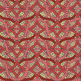 Seamless colored background wall of weave mosaic. Stock Photography