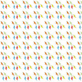 Seamless, colored, childish ornamental pattern Stock Images