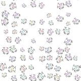 Seamless colored cow pattern with drop shadow on white Stock Photos