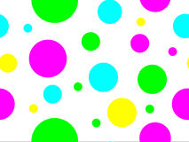 Seamless Colored Dots Stock Photography