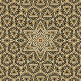 Seamless colored gold celtic pattern 001 Royalty Free Stock Photo