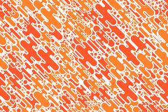 Seamless colored orange shapes and dots celebratory background Royalty Free Stock Photos