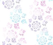 Seamless colored ornaments on white Royalty Free Stock Photography
