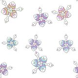 Seamless colored ornate pattern with drop shadow Royalty Free Stock Photography