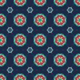 ORNATE PATTERN WITH MANDALA ELEMENTS royalty free illustration