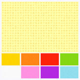 Seamless Colored Paper Textures stock illustration