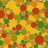 Seamless colored pattern. Autumn colors: green, yellow, orange, brown, red circles on white background. Seamless colored pattern. Autumn colors: green, yellow Royalty Free Stock Images