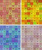 Seamless colored pattern with butterflies Stock Images