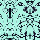 Seamless colored pattern created and rendered in 3D application. Seamless abstract pattern in kelly green and black tones royalty free illustration