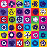 Seamless colored pattern with  flowers Royalty Free Stock Images