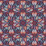 Seamless colored pattern with flowers Stock Photo