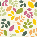 Seamless colored pattern with sprigs Stock Image