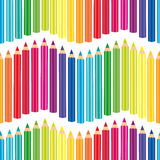 Seamless colored pencils Royalty Free Stock Image