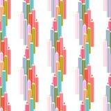 Seamless colored pencils Stock Photos