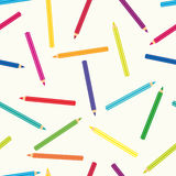 Seamless colored pencils Stock Photo