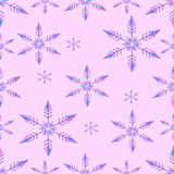 Seamless - Colored - Snowflakes Falling Royalty Free Stock Image