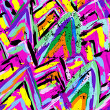 Seamless colored strokes pattern Stock Image