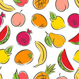 Seamless colored stylized fruit Royalty Free Stock Photography