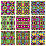 Seamless colored vintage geometric pattern Royalty Free Stock Photography