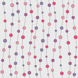 Seamless colorful abstract beads pattern. Endless pattern with lines and circles Royalty Free Stock Photos