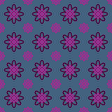 Seamless Colorful Abstract Flower Pattern from Ellipses. Seamless colorful abstract flower pattern created from circle and ellipses Stock Photography