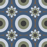 Seamless Colorful Abstract Flower Pattern from Ellipses Stock Photography