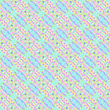 Seamless colorful abstract geometrical kaleidoscope pattern. In pastel colors royalty free illustration