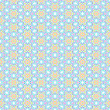 Seamless colorful abstract geometrical kaleidoscope pattern. In pastel colors stock illustration