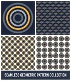 Seamless Colorful Abstract Modern Concentric Circles Pattern Col. Lection stock illustration